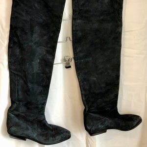 Arnold Churgin suede thigh high boots
